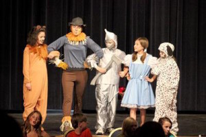 30 kids and teens put on a production of the Wizard of Oz after only one week of prep at the MFRC Youth Theatre Camp of Cold Lake.