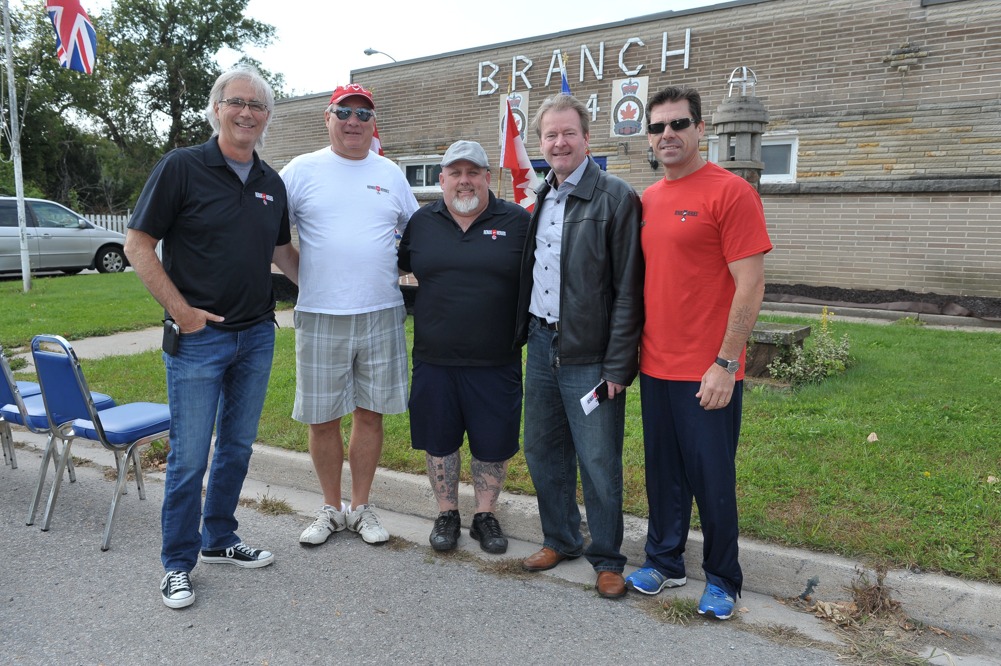 Television personality and Renos to Heroes founders Jim with his brother Deryl Caruck (left to right) with well wishers along with Durval Terceira (far right) at last year's event.