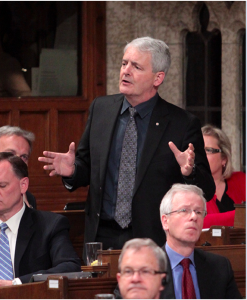 Marc Garneau asking a question during Question Period in the House of Commons on June 2 of 2013