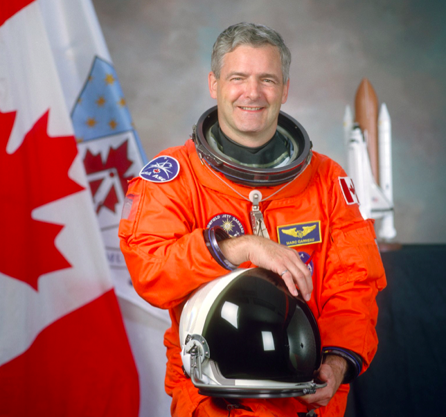 Astronaut Marc Garneau, representing the Canadian Space Agency as a mission specialist on STS-97, a Space Shuttle mission to the International Space Station