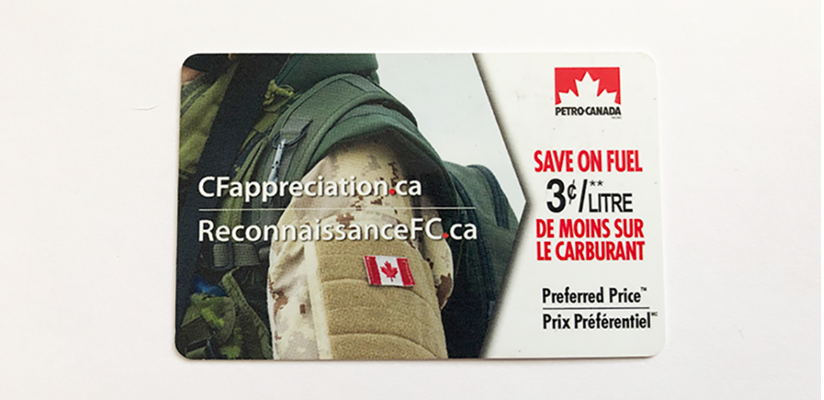 Petro Canada CF gas incentive - Canadian Military Family