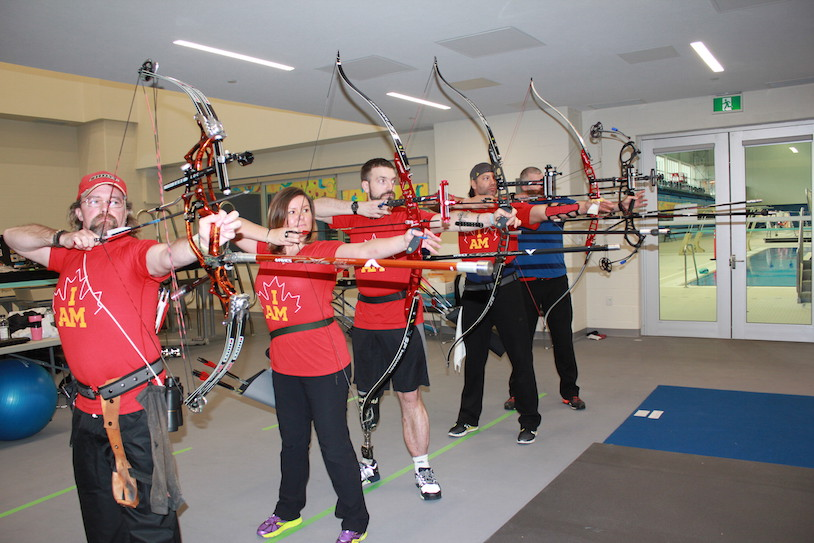 Team Canada archery members practicing during the training camp held in Toronto back in March.