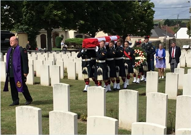 The burial of Sergeant Shaughnessy- Photo Courtesy of DND